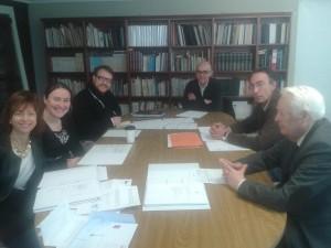 A Xunta de Goberno do CDLG con Manuel Quintáns nunha imaxe de arquivo.
